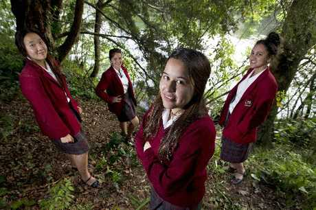 Anna Baik, 16, Alisha Heta, 16, Kya Watene, 16, and Waiaria Putaranui Henderson, 15. The girls helped a woman who lost control of her scooter and crashed into the river.