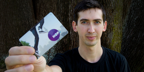 Auckland university student James Parcell has trouble topping up the Auckland Transport card. Photo / Sarah Ivey