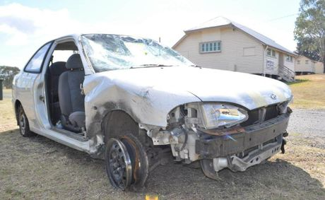The vehicle that Ken Gordon Leggatt allegedly abandoned after driving recklessly through Warwick streets.