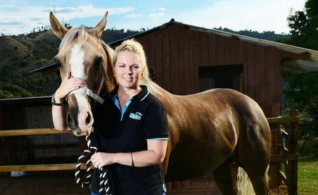 PROTECTION FOR ALL: Anita Demmers from Lowood with her horse Apple. 