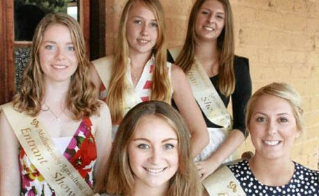 YOUNG AMBASSADORS: Mullumbimby Showgirl entrants back l-r Karen Beaumont, Deanna Thompson, Whitney Sutton front l-r, Eleea Navarro and Aroha Cottle.