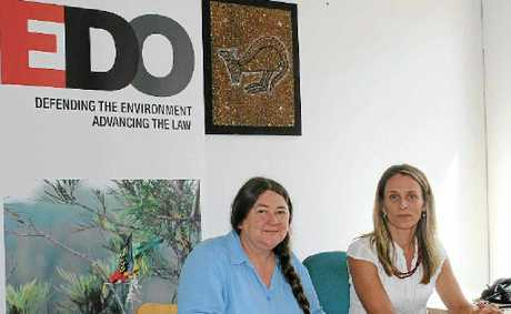 Angela Pollard and Sue Higginson at the Northern Rivers Environmental Defenders Office.