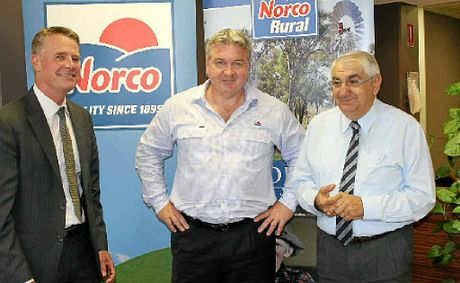 CREAM ON TOP: NSW Acting premier Andrew Stoner, NORCO chief executive Brett Kelly and Lismore MP Thomas George.