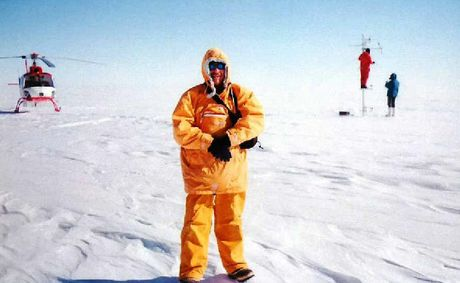 ICY EXPEDITION: Dave Morgan in Antarctica.