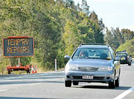 UPGRADE: Road works south of the Yandina-Coolum roundabout are expected to be finished in three weeks.