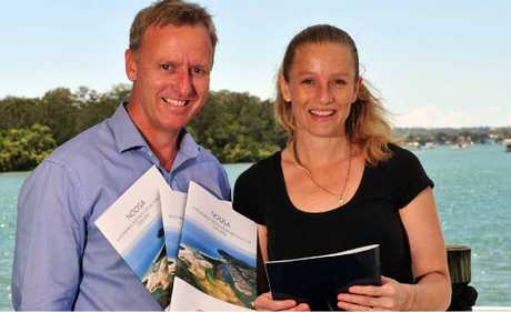 FUTURE GROWTH: Tourism Noosa general manager Damien Massingham with Nicole Anderson from Trios On The River as Noosa`s Annual Tourism Budget announced to grow to $1 billion by 2016.