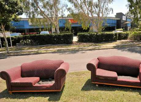 UGLY: Illegally dumped lounge chairs on Dalton Dr, Maroochydore. INSET: Joe Jurisevic.