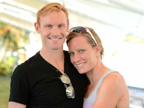 BACKING UP: Defending Noosa Triathlon champion David Dellow and partner Caroline Steffen, who won the women's event in 2010, will both compete this year.