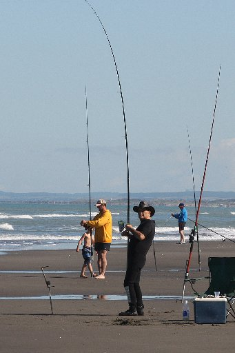 REELING: Eides Sports' surf fishing contest in 2011.