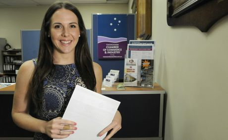 Toowoomba Chamber of Commerce employee Kristina Blue.