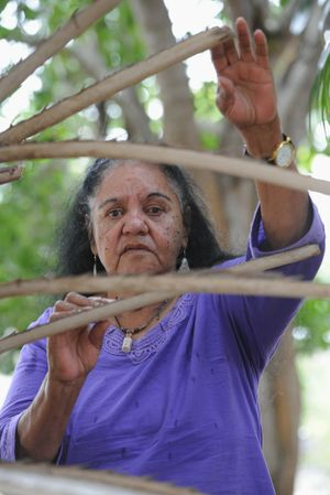Aboriginal elder Aunty Mally Clarke.