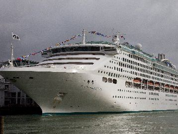 The Dawn Princess was a fine sight for Marine Parade. Photo / File