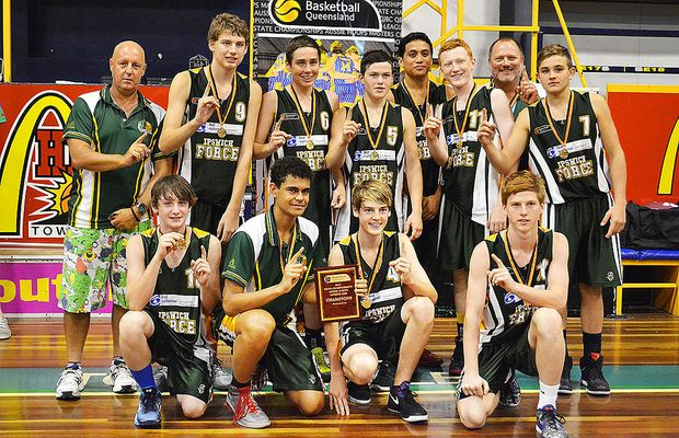 The Ipswich Force under-16 boys basketball team.