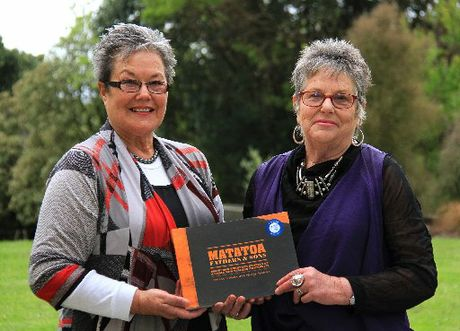 Co-authors Marina Sciascia and Hilary Pedersen of Porangahau have won a national award for their book, Matatoa: Fathers & Sons.