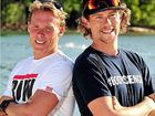 Bondi Rescue boys Andrew Reid (left) and Adriel Young are pumped about tackling the Noosa Triathlon course.