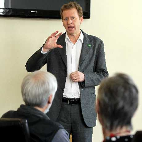 ASSURED: Greens co-leader Russel Norman talks economic policy. PHOTO/STUART MUNRO