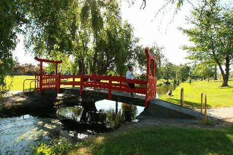 HELP WANTED: The Chinese bridge on Georges Drive, Napier, near where a girl was sexually assaulted on Tuesday. PHOTO/GLENN TAYLOR HBT124286-01