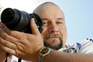 Photographer Grant Rolph has a passion for chasing and documenting lightning and storms.  Photo: Bev Lacey / The Chronicle