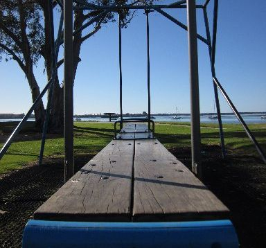 Generations of fun to stay. Omokoroa Domain playground's lullaby swing built in 1968 has won a reprieve. PHOTO/FILE