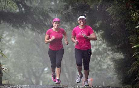 HARD YAKKA: Rotorua&#39;s Aroha Nikora (left) and Mere Murray during their training sessions for the New York Marathon.
