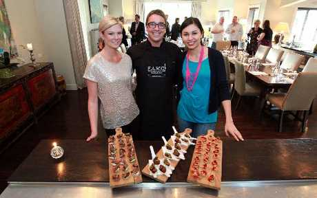 CELEBRITY CHEF: MasterChef winners Chelsea Winter, Brett McGregor and Nadia Lim at Black Barn retreats. HBT124300-05