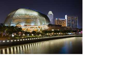 EXTRAVAGANT: The design for the Esplanade theatre complex was inspired by the Sydney Opera House.