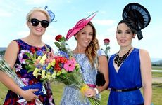 Murwillumbah races, melbourne cup 2012. Rebecca Woods, Prue Montgomery, Chantal Turro-Martinez Photo: John Gass / Daily News