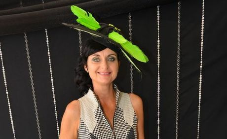 Karen Ford took out the NewsMail's Melbourne Cup fashion poll.