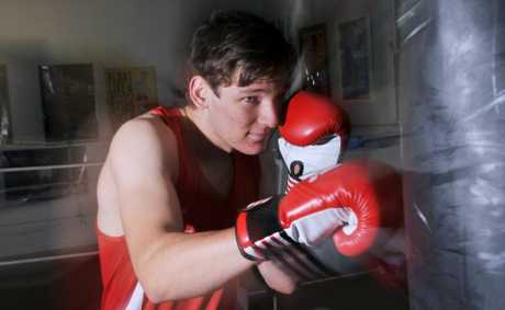 UPPER CUT: Boxer Paul Kovacs training hard. Photo: Scottie Simmonds / NewsMail