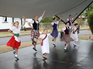 DANCE OFF: Crowds enjoyed the toe-tapping talents of the highland dancing group at the Celtic Festival. Photo Tom Threadingham / Gatton Star