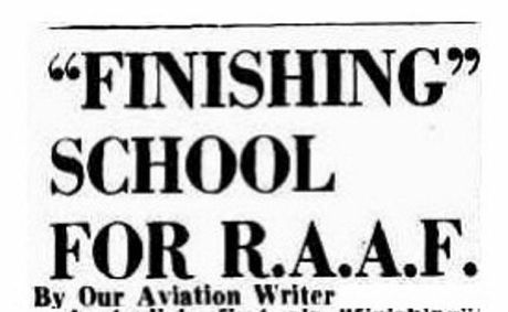 The formation of the No1 Bombing and Gunnery School at the Evans Head Aerodrome is announced in Brisbane's The Courier-Mail newspaper on September 28, 1940. Photo Contributed