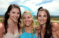 Murwillumbah races, melbourne cup 2012. Amber Desmond, Kirralee Campbell and Michelle Hill Photo: John Gass / Daily News