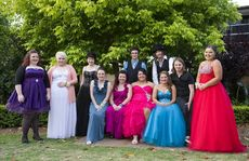 The year 12 graduating students (from left) Tayla Chapman, Chloe Stewart, Heidi Voll, Kaitlyn Emes, Tiffani Buddee, Coby Freeman, Tarah Langford, Bryan Potter, Melissa Selleck, Luke Scholefield and Whanita Hobbs at the Toowoomba Flexi School graduation and formal at the Empire Church Theatre.