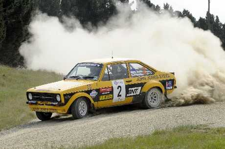 Rally driver Jeff Judd showing his winning style at the last epay Silver Fern Rally. Photo / Geoff Ridder