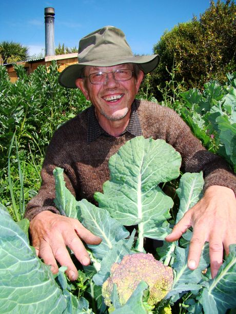 GREEN THUMBS: Jim O'Gorman, of Kakanui, is a regular supplier to Government House and his organic produce may be served to Prince Charles and Camilla when they visit New Zealand. PHOTO/JESSIE WAITE