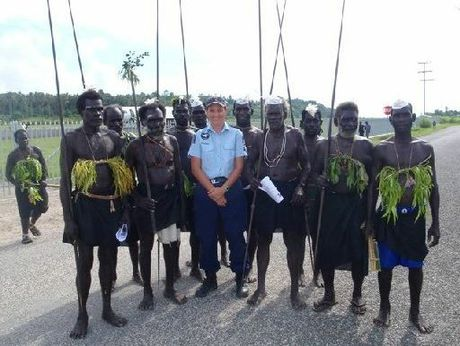 Tracee Knowler on the beat with the Bougainville Community Police in Papua New Guinea.