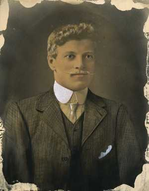 George Frederick Evans. Photo Courtesy Waihi Arts Centre & Museum