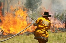Firefighters are battling a vegetation fire in the Gladstone Monto Rd area. Photo: Chris Ison / The Morning Bulletin