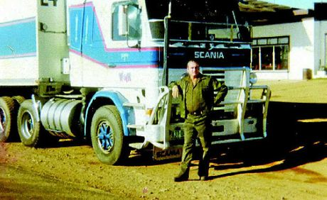 GOOD OL' DAYS: Stewart Walker with his rig.