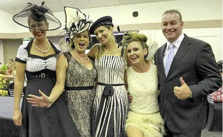 LOOKING GOOD: Winners of Fashion on the Field at the Our Kids Melbourne Cup luncheon fundraiser were (l-r) Carmel Elliot, Josie Peck, Bija Nicholson, Lauren Bates and Ashley Clark-Smith.