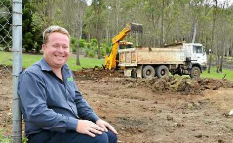 GETTING WASTED: Lismore Councils waste operations co-ordinator Kevin Trustum at the site of the new Environment Education Centre.