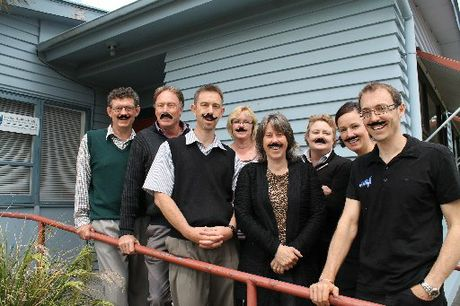MO BROS: Staff at Back in Action Physiotheraphy and Carterton Medical Centre are challenging other health professionals to get behind Movember. From left: Ian McArthur, Craig Cherry, David Heard, Nicole Kolvenbag, Sandy Moore, Maree Tonks, Maryanne Monastra and Ryan Monastra.
