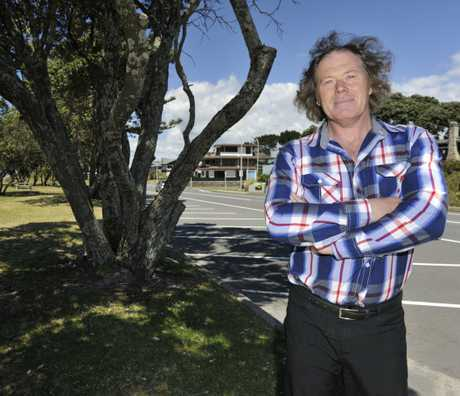 Mount resident Simon Taylor does not want the pohutukawa trees on Marine Parade to be felled.