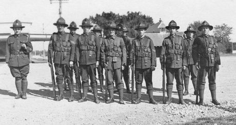 Havelock North Soldiers, World War One, circa 1915/16. PICTURE SUPPLIED BY HAVELOCK NORTH COMMUNITY ARCHIVES