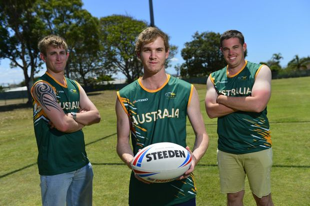 Zac Smith, Jay Cotter and Gavin Marsh played in the Australian touch football team.