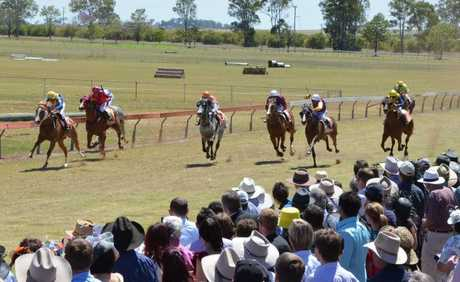 KUMBIA RACE DAY: The finishing stages of Tuesday's Rob Stewart Memorial/SB Times/BP Roadhouse Nanango Maiden Plate at Kumbia Race Club.