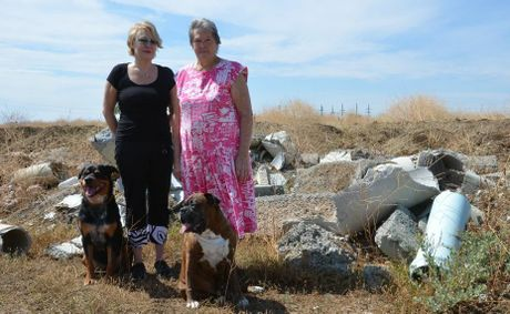 For 18 months Ann Hatcher and Lola Zerk have watched the piles of rubbish and fill spread across the Clearview development site.
