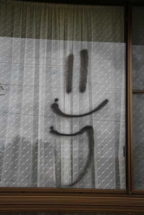 The smiley-faced tag scattered through East Warwick Photo: Erin Smith / Warwick Daily News