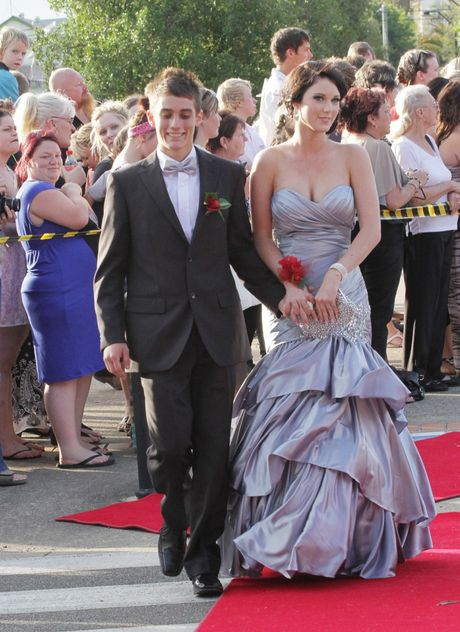 Josiah Hess and Jaiden Thorburn, walking the red carpet at the Maryborough State High School formal, have polled the most votes in our best-dressed poll.