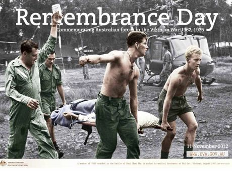 LIKE YESTERDAY: Remembrance Day... commemorating Australian forces in the Vietnam War 1962-75. Trevor Skinner (right) remembers the moment well.